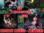 3D monster sex